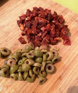 olive chorizo