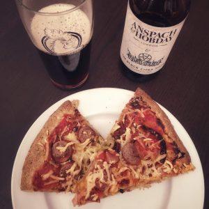 Biere et pizza
