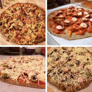 Pizza maison aux drêches